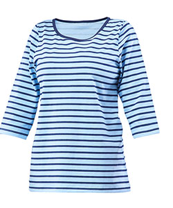 Dámské triko Apolena modrý proužek