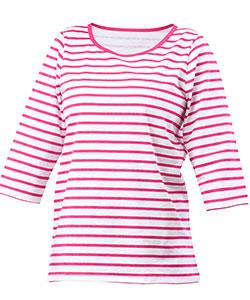 Dámské triko Apolena růžový proužek