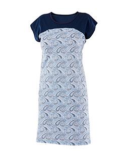 Dámské šaty Anežka modrý kašmír
