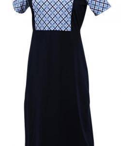 Dámské šaty Anita tmavě modrý tisk