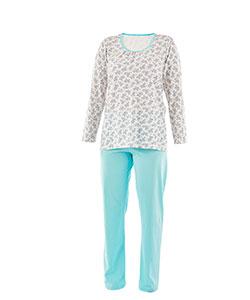 Dámské pyžamo dlouhý rukáv Liběna větvičky