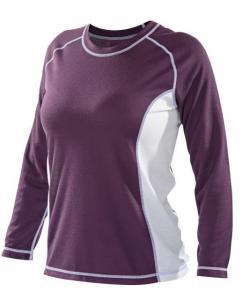 Dámské triko dlouhý rukáv fialová
