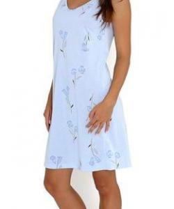 Dámská noční košile Juka modrý květ s proužkem