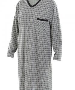 Pánská noční košile Karel D černozelená kostka