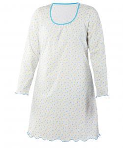 Dámská noční košile Dana D modrozelený tojúhelník