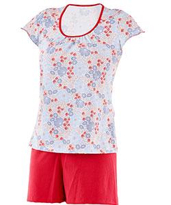 Dámské pyžamo Marika červenomodrý květ