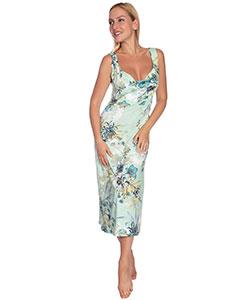 Dámské šaty Katarína květ na zelené