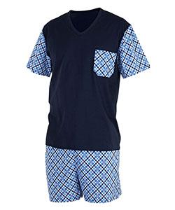 Pánské pyžamo Jan tmavě modrý tisk