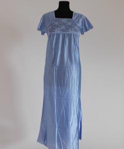 Dámská noční košile Rút D šedomodrá-jednobarevná krajka