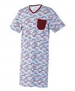 Pánská noční košile Karel barevný proužek