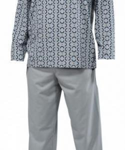 Pánské pyžamo dlouhé Emil šedý ovál