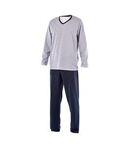 Pánské pyžamo dlouhé Emil modrý trojúhelník