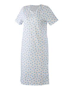 Dámská noční košile Iva modrobílá kopretina