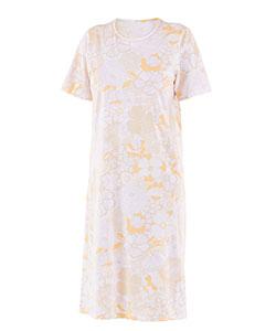 Dámská noční košile Iva fialovožlutý květ