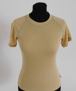 Dámské tričko krátký rukáv Coolbest béžová