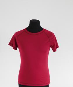 Dámské tričko krátký rukáv Coolbest vínová