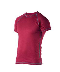 Pánské tričko krátký rukáv Coolbest vínová