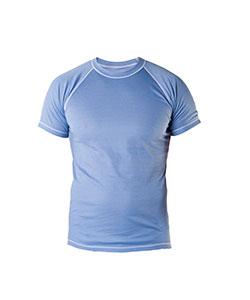 Pánské tričko krátký rukáv Coolbest šedomodrá