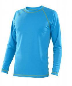 Pánské tričko dlouhý rukáv Coolbest tyrkys