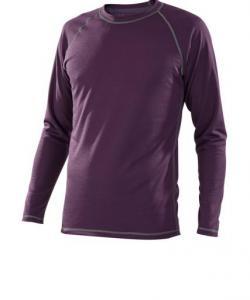 Pánské tričko dlouhý rukáv Coolbest fialová
