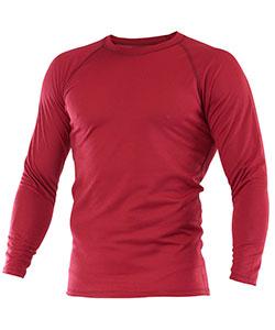 Pánské tričko dlouhý rukáv Coolbest vínová