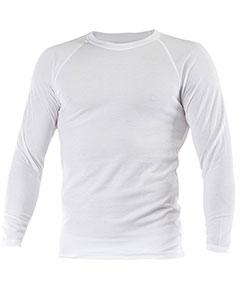 Pánské tričko dlouhý rukáv Coolbest bílá