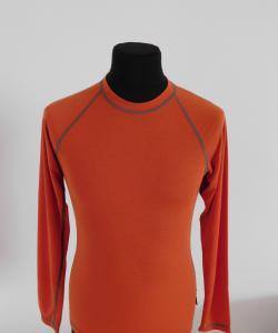 Pánské tričko dlouhý rukáv Coolbest cihlová