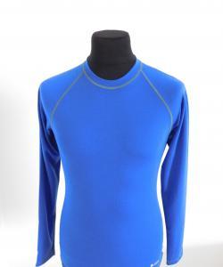 Pánské tričko dlouhý rukáv Coolbest středně modrá