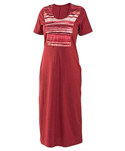 Dámské šaty Aneta vínový dekor