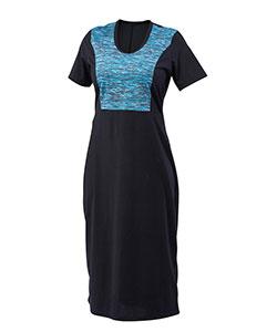 Dámské šaty Aneta tyrkysový tisk