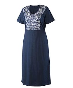 Dámské šaty Aneta tmavě modrý květ