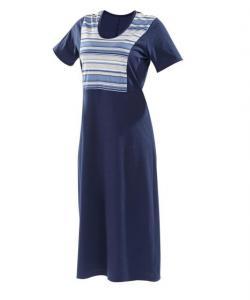 Dámské šaty Aneta modrošedý proužek