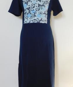 Dámské šaty Aneta světle modrá s tmavým tiskem