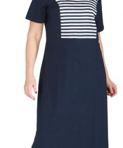 Dámské šaty Aneta modrobílý proužek