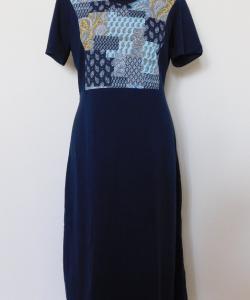 Dámské šaty Aneta tmavě modrý dekor
