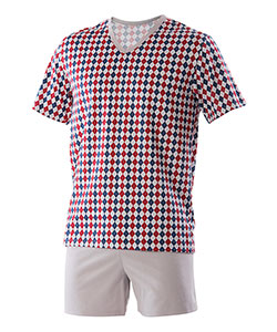 Pánské pyžamo Jakub vínový kosočtverec