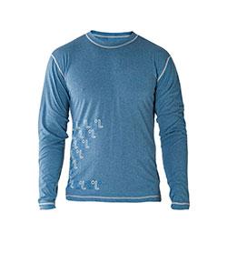 Pánské tričko dlouhý rukáv Freshguard modrá-logo