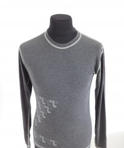 Pánské tričko dlouhý rukáv Freshguard šedá-logo