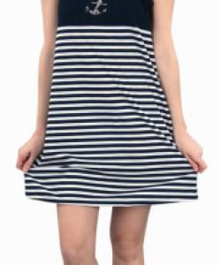 Dámské šaty Janča modro-bílý pruh