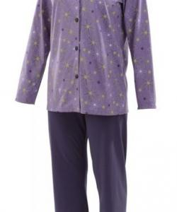 Dámské pyžamo Agáta fialovo-zelený tisk