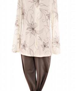 Dámské pyžamo Agáta šedá lilie