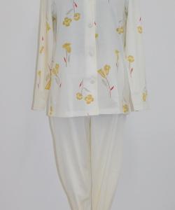 Dámské pyžamo Ara žlutá kala
